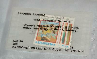 Vintage Lot Spanish Sahara Postmarked Olympics Set of 6 1995 Kenmore Collectors