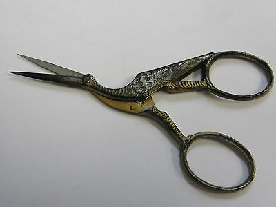 Antique Early 1900's Stork or Crane Scissors Made by Pape Thiebes Germany