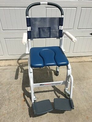 """Mor-Medical 18"""" Euro Style Rehab Shower Chair Commode, 300lbs Capacity"""