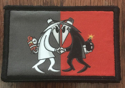 Spy VS Spy Morale Patch Tactical Military Army Flag Badge Hook
