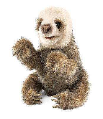 *NEW* PLUSH SOFT TOY Folkmanis 2927 Baby Sloth Hand Puppet