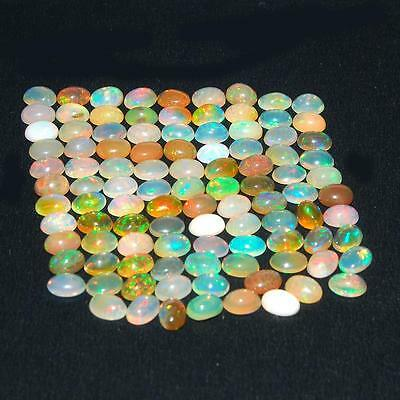 51.85 Cts/103 Pcs [Certified Lot] Natural Ethiopian Opals Vibrant Play of Colors