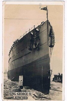 Navy - The Dreadnought Battleship King George V, Launched, Portsmouth Oct.,1911