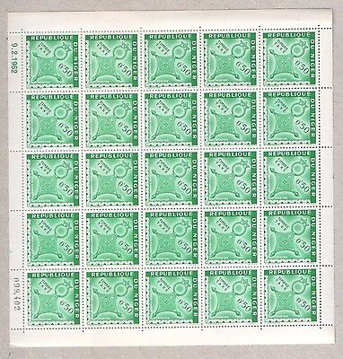 Niger Pair of MNH Sheets of 1962 Agadez Cross Stamps 0.50F 1.00F