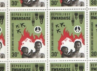 Rwanda 1966 Two Sheets Fight against Nuclear Weapons Stamps MNH