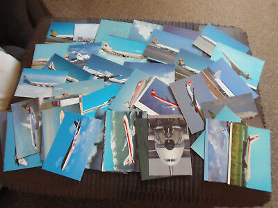 50 x colour postcards of assorted airliners:(LOT 1)