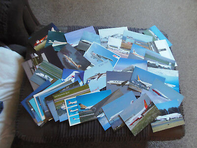 50 x colour postcards of assorted airliners:(LOT 2)