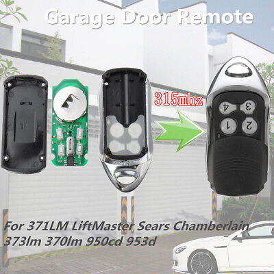 Garage Remote Key For 371LM LiftMaster Sears Chamberlain 373lm 370lm 950cd 953d