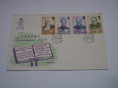 Jersey Anniversaries 1974 FDC
