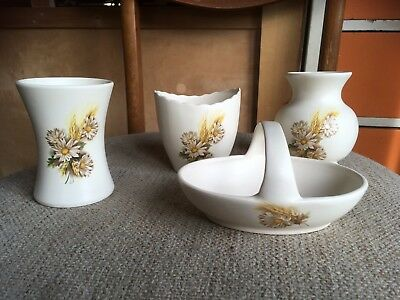 Retro Purbeck Gifts Poole Pottery Vases Trinkets Pots Basket x 4