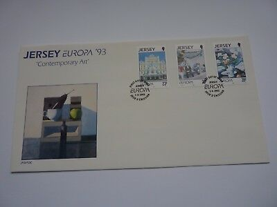 Jersey Europa: Contemporary Art 1993 FDC