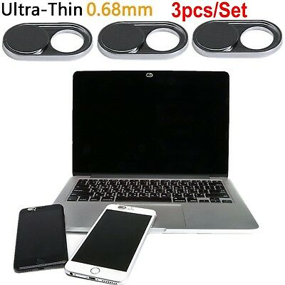 Webcam Cover 0.03in Ultra Thin 3 Pack, iRush Web Camera Cover for Laptop PC Lot