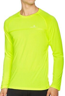 Ronhill Everyday Long Sleeve Mens Running Top - Yellow