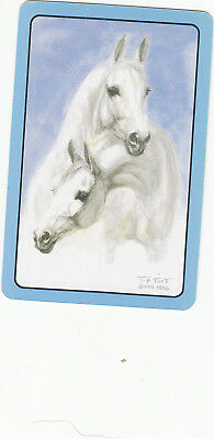 #104 1 single vintage single playing swap card - Horse Head   - JS