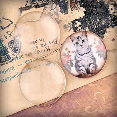 3/5/6/8/10pcs DIY Glass Cabochon Flat Back Pendant Clear Cameo Jewelry Making