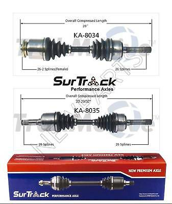 2 Front CV Axle Shafts SurTrack for Isuzu VehiCROSS 4WD 99-01 w//o IB Joint
