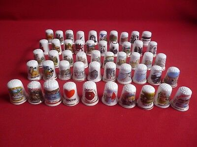Job lot 50 mixed places to visit in England and More collectors thimbles. Set 1