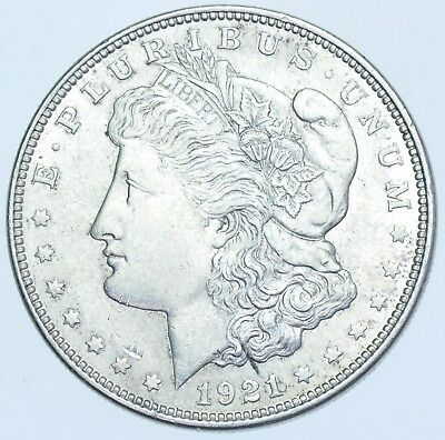Usa United States, Morgan Dollar, 1921 Silver Coin Ms-63