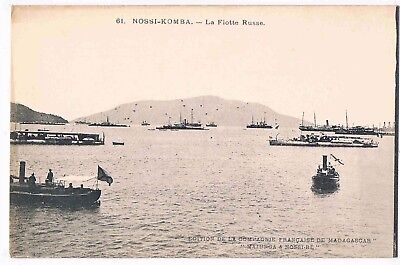 RUSSIA - THE RUSSIAN FLEET - NOSSI (NOSY)-KOMBA, MADAGASCAR, 1900s