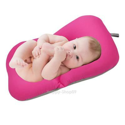 Non-Slip Baby Bathing Mat Soft Foldable Newborn Security Bath Seat Shower Bed