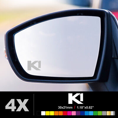 SEAT LEON CUPRA K1 Wing Mirror Glass Silver Frosted Etched Car Decal Stickers
