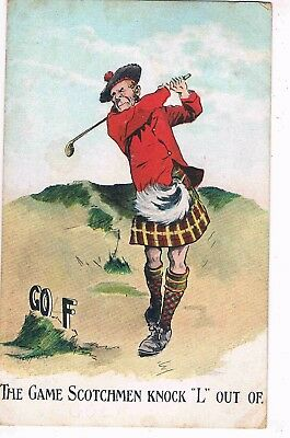 "Comic Golf - The Game Scotchmen Knock ""l"" Out Of. 1915"