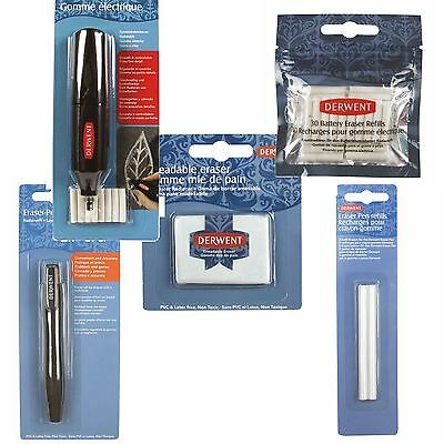 Derwent Erasers, putty Battery, Pen replacement eraser, artists drawing rubber