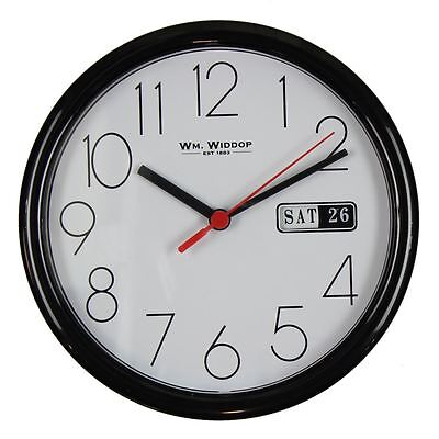 Wm.Widdop 22cm Large Number Date Day Time Wall Clock Kitchen Home Office