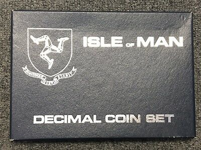 Isle Of Man 1976 Silver 6 Coin Set From Pobjoy Mint  Mint Condition