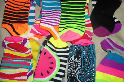 24 Pcs Orphan Ankle Socks No Show Women's Size 8-14 RANDOM MIXED LOT