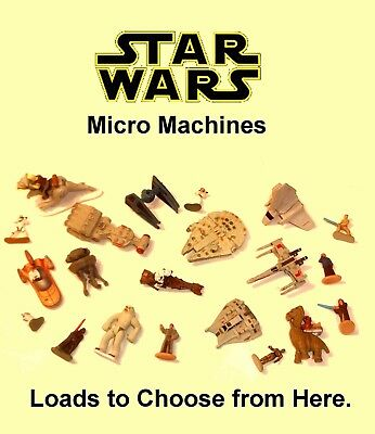 Vintage Star Wars Micro Machines ~ LOADS TO CHOOSE FROM ~ Vehicles & Figures