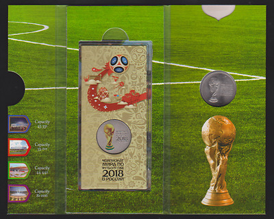 Russia coins set  25 rubles  coin  the world Cup 2018 in Russia, #2 UNC NEW !!!