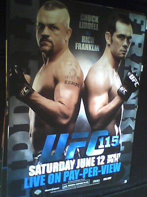 ULTIMATE FIGHTING CHAMPIONSHIP UFC 115 POSTER chuck liddell v rich franklin,mma