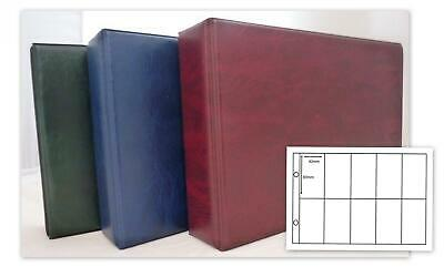 Glen Cigarette Card 2 Ring Album 30 x 10 Pocket Pages In Green Red Or Blue