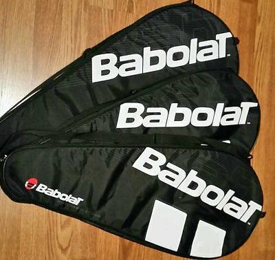 3 Babolat Padded Tennis Raquet Cover Bag Shoulder Carrying Case MINT!