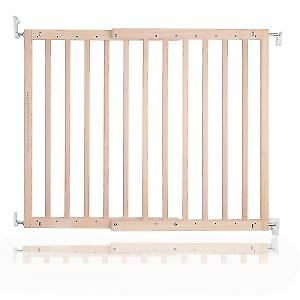 Safetots Chunky Wooden Natural Screw Fit Gate 81cm - 89cm Stair Gate RETURN