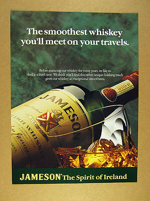 1996 Jameson Irish Whiskey 'the smoothest whiskey you'll meet' print Ad