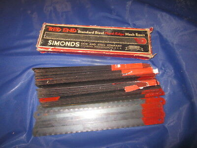"NOS Simond's Red End Hack Saw Blades 8"" over 50 of them"