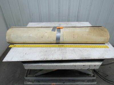 "2-Ply White/Clear Polyurethane Smooth Top Conveyor Belt 52' X 49"" X 0.065"""