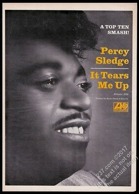 1966 Percy Sledge BIG photo It Tears Me Up record release vintage trade print ad