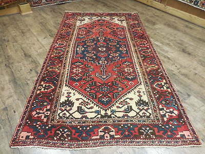 Ca1930 VGDY ANTIQUE PERSIAN KURDISH BIJAR VISS SERAPI 4.3x7.7 ESTATE SALE RUG