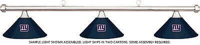 NFL New York Giants Blue Metal Shade & Chrome Bar Billiard Pool Table Light