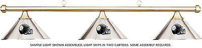 NFL Pittsburgh Steelers Chrome Metal Shade & Brass Bar Billiard Pool Table Light
