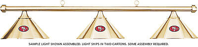 NFL San Francisco 49ers Brass Metal Shade & Brass Bar Billiard Pool Table Light