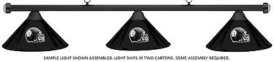 NFL Pittsburgh Steelers Black Metal Shade & Black Bar Billiard Pool Table Light