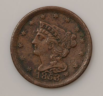 1853 Braided Hair Half Cent *G03