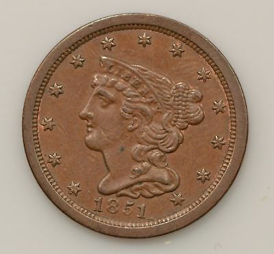 1851 Braided Hair Liberty Head Half Cent *G38