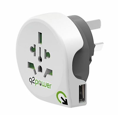 q2power World Plug Reiseadapter to AUS mit USB