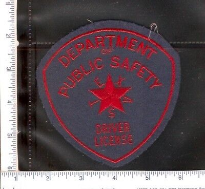 for sale1 vintage police shoulder patch, Texas Public Safety,Driver Licence