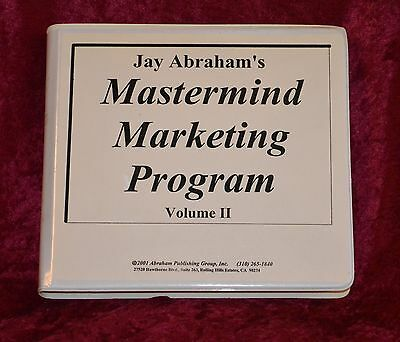 Jay Abraham MASTERMIND MARKETING PROGRAM Volume 2 12 Cassette Tapes COMPLETE